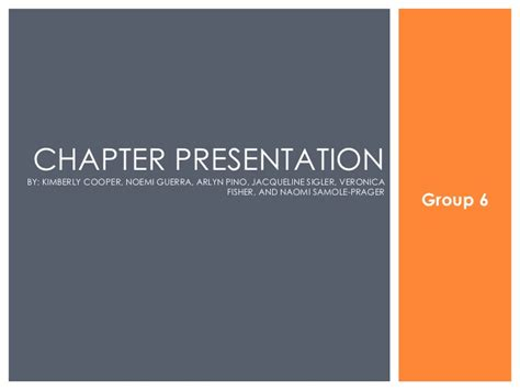 6 chapter presentation powerpoint