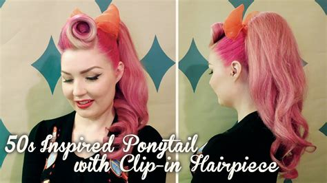 Pin Up Ponytail Hairstyles by Fifties Hairstyles Ponytail Hair
