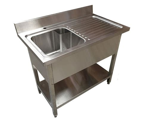 commercial sinks 1 2m commercial stainless steel rhd single bowl sink 600 series commercial catering