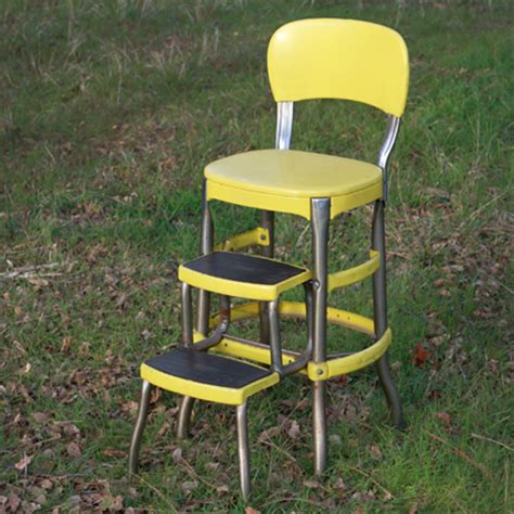 Step Stool Chair by Yellow Chair With Step Stool Forever Vintage Rentals