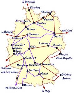 Germany Train Map by Map Holland Train Routes