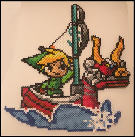 link perler bead legend of wind waker link perler bead sprite by