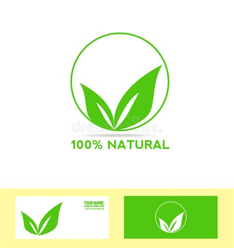 Natural Product Bio Eco Vegan Stock Vector Illustration Of Template Label 57450033 Vector Company Logo Element Template