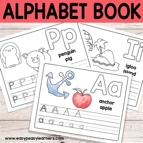 printable alphabet book free printable alphabet book alphabet worksheets for pre