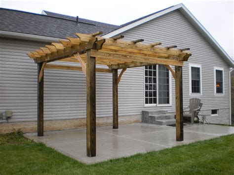 how to build a pergola on concrete tips to building your own pergola world garden farms