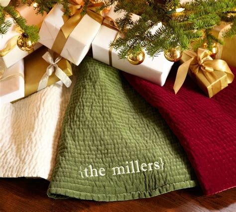 channel quilted velvet tree skirt traditional