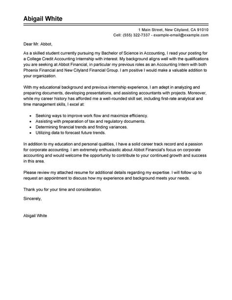 best training internship college credits cover letter