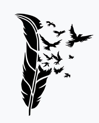 Birds Of A Feather Airbrush Stencil 4 1 2 Quot X 3 1 2 Quot Art Ideas Pinterest Stencils Feather Bird Design Templates