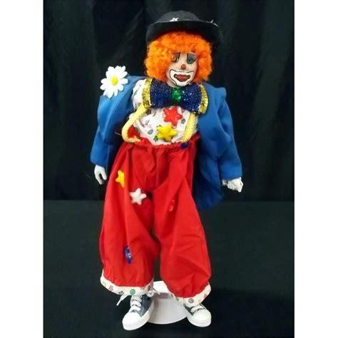 porcelain doll clown porcelain clown doll w hat