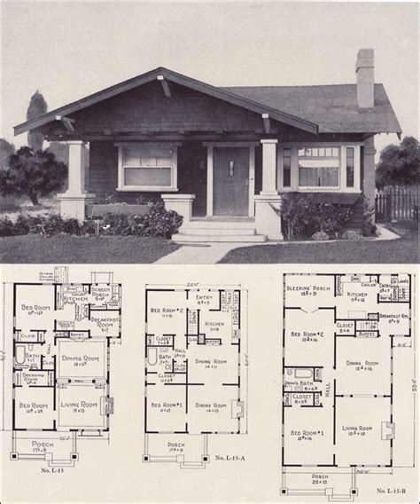 1920s bungalow floor plans 1920s bungalow forward gable cottage style plan no l 15 e w stillwell co