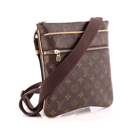 Dompet Louis Vuitton 2288 V buy louis vuitton valmy pochette monogram canvas brown 1355101 rebag