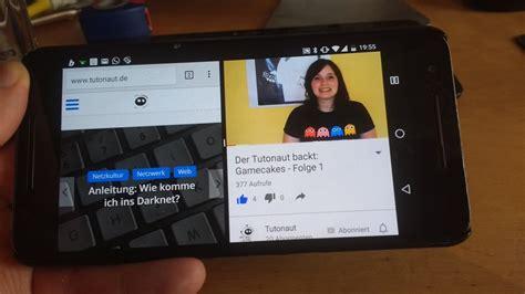 android split screen anleitung splitscreen modus in android 7 nutzen zwei apps nebeneinander der tutonaut