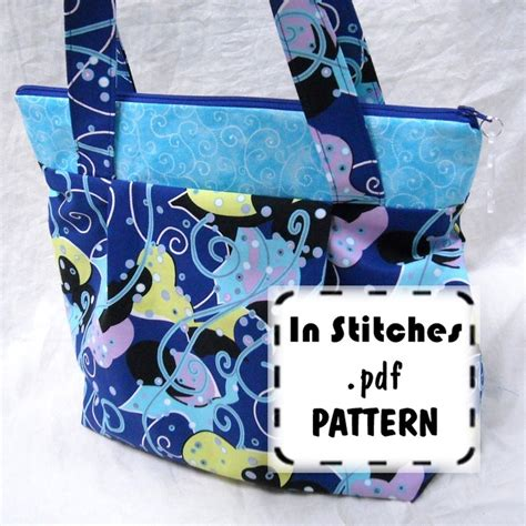 pattern tote bag with zipper tote bag pattern zippered hobo bag pattern
