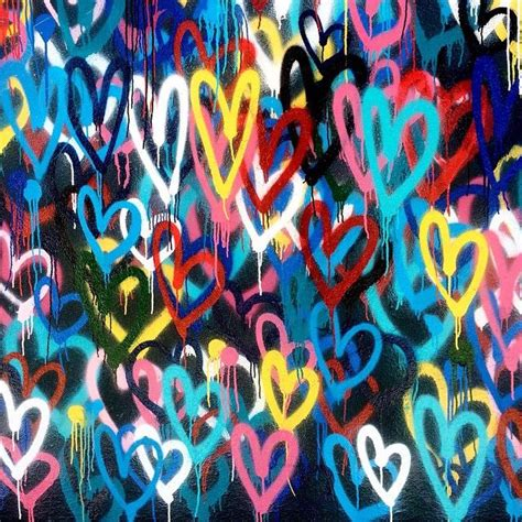 bleeding hearts love wall  james goldcrown nyc
