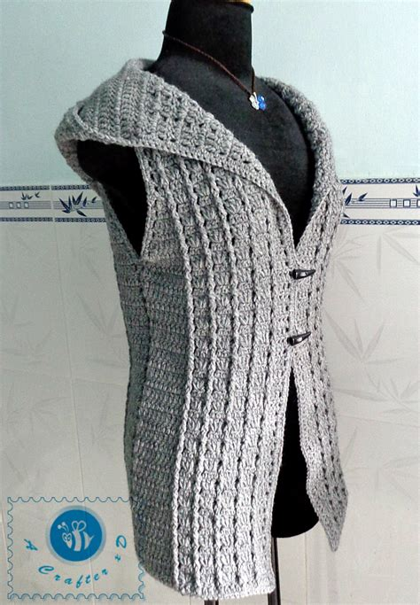 pattern crochet vest womens crochet overcast vest crochet hooded vest crochet women