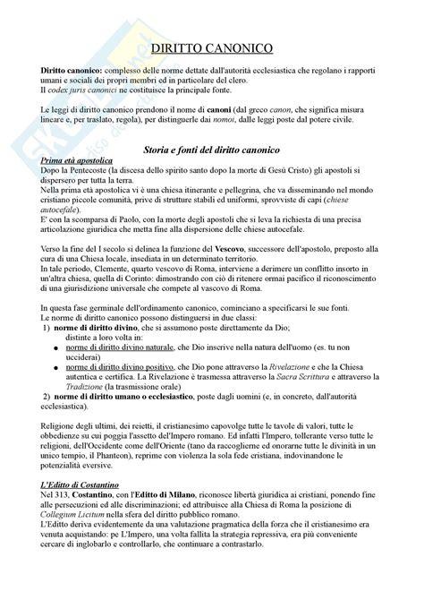 dispensa diritto canonico riassunto esame diritto prof zanotti libro consigliato
