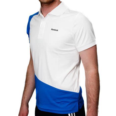 reebok stretch mens polo shirt white