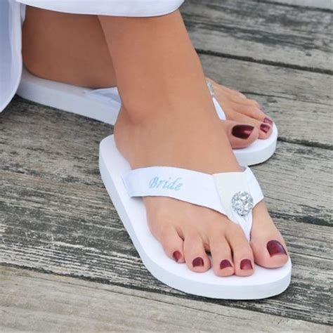Bride Flip Flops   These are cute Im getting these for my