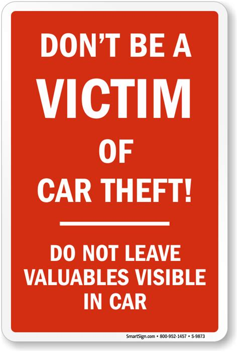 this does not leave this house books lock your car signs not responsible for theft signs