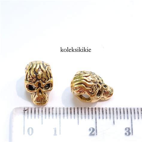 Kalung Liontin Silver Skull 113b skull gold koleksikikie