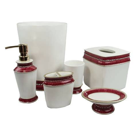 Stores That Sell Bathroom Accessories Sherry 6 Bath Accessory Set 4 Color Option Ebay