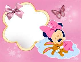 portaretrato gigante de minnie bebe imgenes marcos infantiles micky mouse y amigos