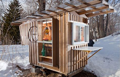 micro tiny house tiny living on wheels impossibly small 32 sq ft cabin