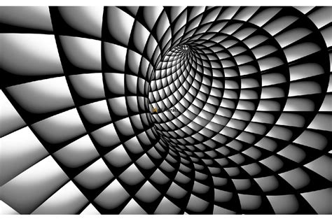 3d Effekt by Photo Mural 3d Effect A Tunnel Spiral Black And White