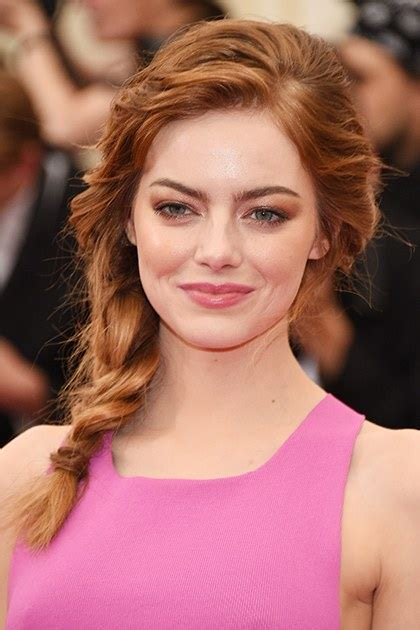 One Day Wash Out Hair Color - emma stone best hair and makeup looks photos of emma