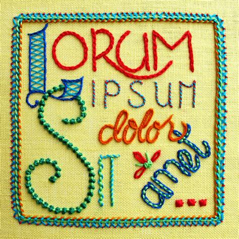 Embroidery Block Letters