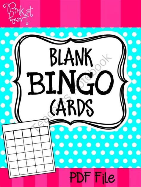 bingo template pdf 25 best blank bingo cards ideas on bingo