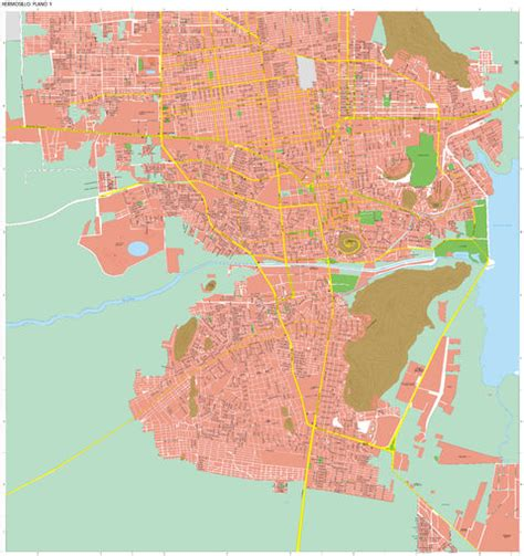 hermosillo sonora mexico map hermosillo map sonora mexico