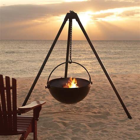 hanging tripod pit cowboy cauldron a hanging tripod pit bbq probably