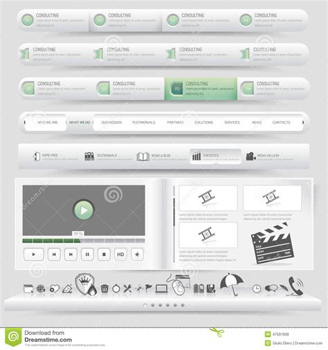 set template design template set vector illustration cartoondealer