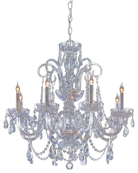 Lighting Chandeliers Traditional Traditional Eight Light Polished Chrome Up Chandelier Traditional Chandeliers By