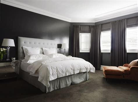 Dark Grey Bedroom | dark gray bedroom contemporary bedroom denai kulcsar