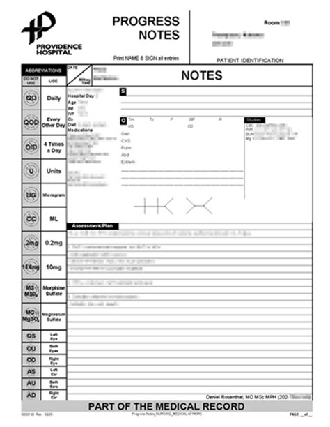 hospital progress note template features 187 wardmanager simple secure signout