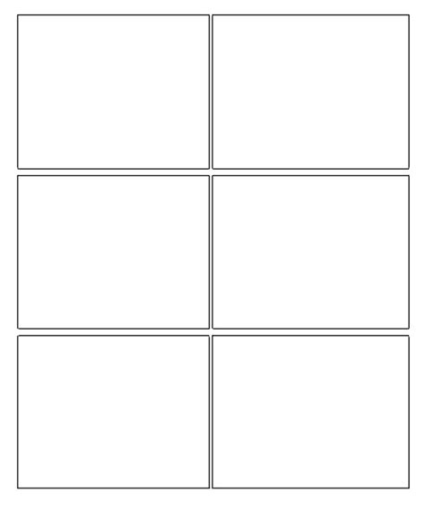 6 panel comic template 7 best images of comic book templates printable free