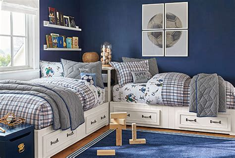 pottery barn boys room vintage sports bedroom pottery barn