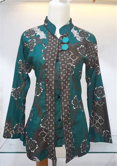 jual atasan batik wanita blouse batik blus batik