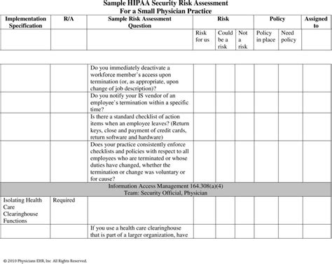 Sle Hipaa Risk Assessment Pictures To Pin On Pinterest Pinsdaddy Hipaa Privacy Risk Assessment Template