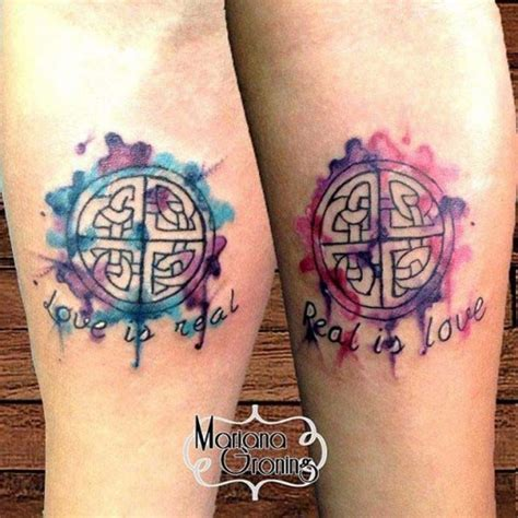 love symbol tattoos for couples watercolor symbol best ideas gallery