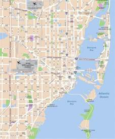 Miami On A Map by Large Miami Maps For Free Download And Print High