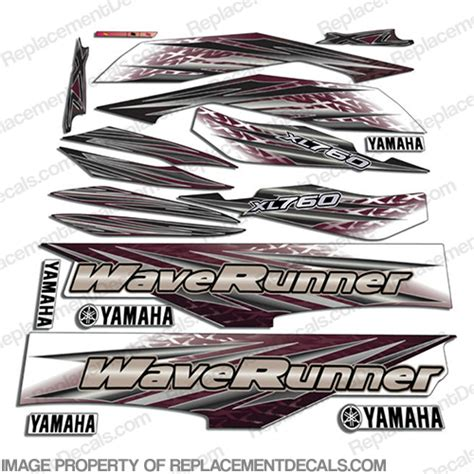 yamaha boat lettering yamaha 2000 2001 xl760 pwc decals