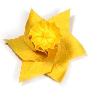 origami daffodil how to make an origami daffodil flower page 1