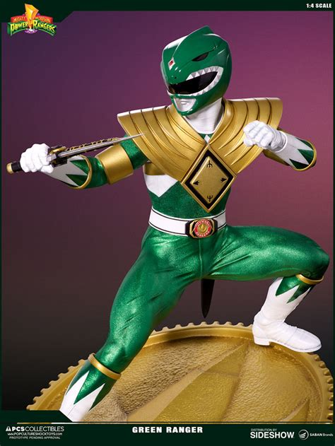 green range mighty morphin power rangers green ranger statue by pop