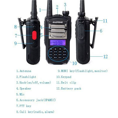 Taffware Walkie Talkie Dual Band Two Way Radio 5w 99ch Uhf Vhf Uv B6 taffware walkie talkie dual band 5w 128ch uhf vhf ct 3 black jakartanotebook