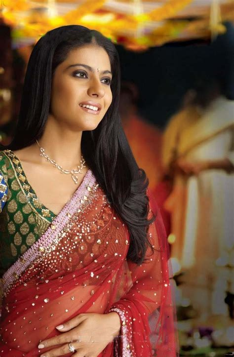 bollywood heroine in sarees kajol in red saree www imgkid the image kid has it