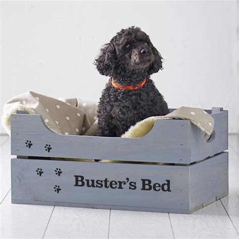 crate dog bed personalised crate pet bed by plantabox