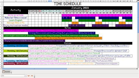Tips Membuat Jadwal Kegiatan | yanikmatilah saja cara membuat jadwal kegiatan